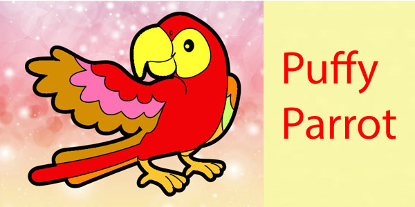puffy parrot 1